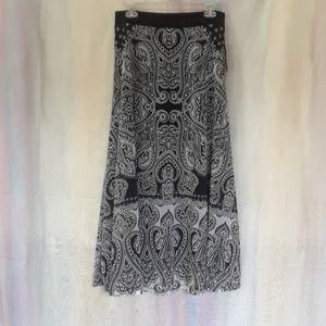 INC International Concepts Long Black&White Skirt